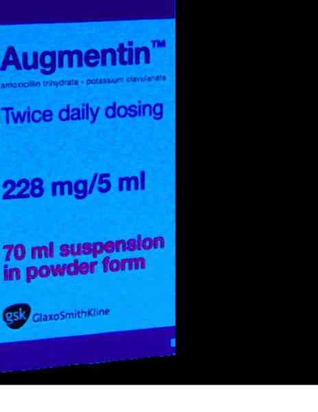 augmentin amoxicilline nourrisson