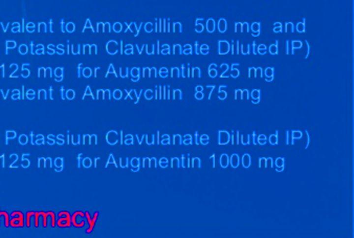 augmentin et pseudomonas